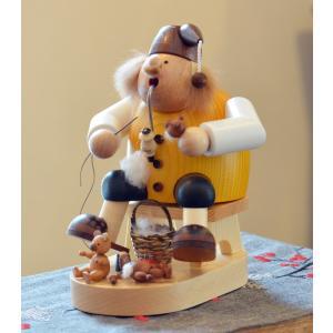 ドイツ木工芸品 煙出し人形 テディベア メーカー クマのぬいぐるみ|motomachi-takenaka