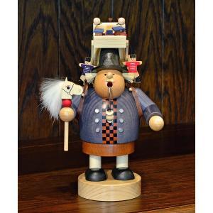ドイツ木工芸品 煙出し人形 おもちゃ売り 玩具|motomachi-takenaka