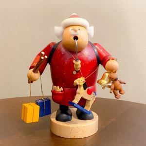 ドイツ木工芸品 煙出し人形 サンタクロース プレゼント|motomachi-takenaka