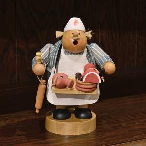 ドイツ木工芸品 煙出し人形 肉屋|motomachi-takenaka