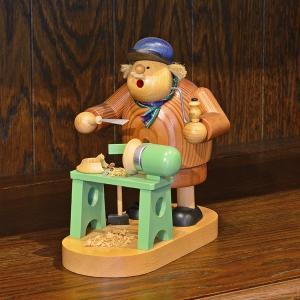 ドイツ木工芸品 煙出し人形 挽物職人|motomachi-takenaka