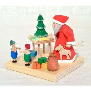 ドイツ木工芸品 サンタクロース おもちゃ作り|motomachi-takenaka