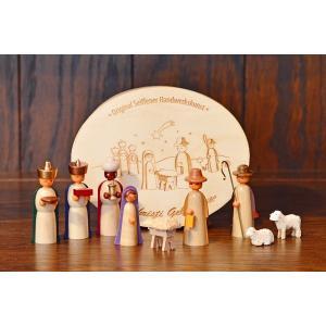 ドイツ木工芸品 キリストのご降誕 ご生誕 わっぱ入り|motomachi-takenaka