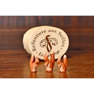 ドイツ木工芸品 リスの家族 3匹セット わっぱ入り motomachi-takenaka