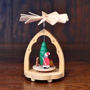 ドイツ木工芸品 ウィンドミル ミニ サンタクロース サンタさん|motomachi-takenaka