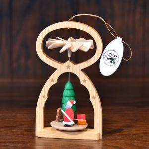 ドイツ木工芸品 ウィンドミル オーナメント サンタクロース サンタさん|motomachi-takenaka