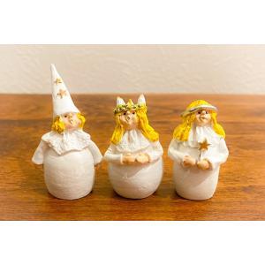 スウェーデン 置物 ルチアの子供たち Lucia Children 3個セット|motomachi-takenaka