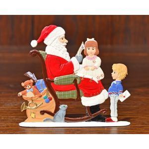 ドイツ錫(すず)飾り・サンタクロース ロッキングチェア 子供 手紙|motomachi-takenaka