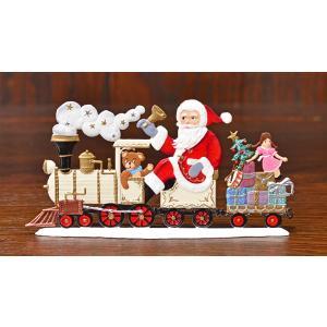 ドイツ錫(すず)飾り・サンタクロース 機関車 プレゼント ツリー|motomachi-takenaka