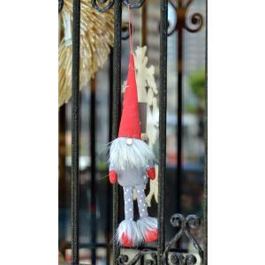 スウェーデン 三角帽子のお洒落な妖精 人形 置物 オーナメント ドット柄 グレー motomachi-takenaka