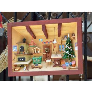ドイツ 木製 立体額 3D額 クリスマスの部屋 Christmas chamber|motomachi-takenaka