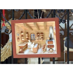 ドイツ 木製 立体額 3D額 パン工房 パン屋 ベーカリー Old Bakery|motomachi-takenaka