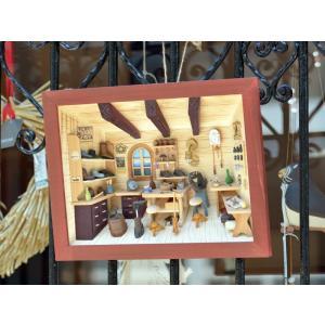 ドイツ 木製 立体額 3D額 靴工房 靴屋 シューメーカー Shoemaker|motomachi-takenaka