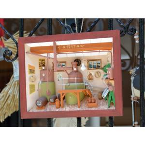 ドイツ 木製 立体額 3D額 ビール醸造所 Brewery|motomachi-takenaka