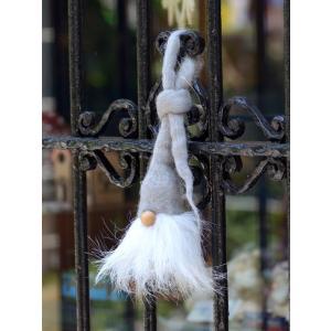 スウェーデン 三角帽子の妖精 木製 フェルト 置物 オーナメント グレー motomachi-takenaka