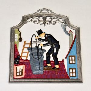 ドイツ錫(すず)飾り 職業シリーズ 煙突掃除人 幸運|motomachi-takenaka