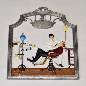 ドイツ錫(すず)飾り 職業シリーズ 歯科医師 歯医者|motomachi-takenaka