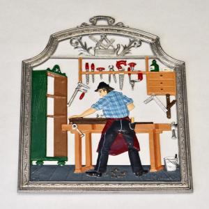 ドイツ錫(すず)飾り 職業シリーズ 家具職人|motomachi-takenaka