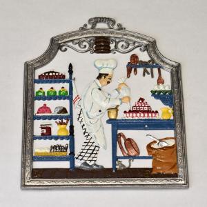 ドイツ錫(すず)飾り 職業シリーズ ケーキ職人 パティシエ|motomachi-takenaka