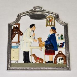 ドイツ錫(すず)飾り 職業シリーズ 獣医師 動物病院|motomachi-takenaka