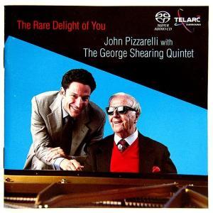 【中古】JOHN PIZZARELLI  WITH THE GEORGE SHEARING QUINTET ジョン・ピザレリwithジョージ・シアリング・クインテット / THE RARE DELIGHT OF YOU 〔CD〕|motomachirhythmbox