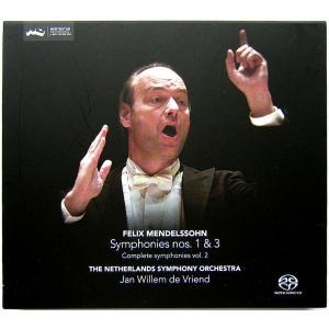 【中古】Jan Willem Vriend ヤン・ヴィレム・フリエンド(指揮) / MENDELSSOHN : SYMPHONIES Nos. 1&3 〔SACD/CD〕 motomachirhythmbox