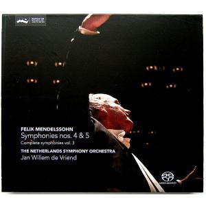 【中古】Jan Willem Vriend ヤン・ヴィレム・フリエンド(指揮) / MENDELSSOHN : SYMPHONIES Nos. 4&5 〔SACD/CD〕 motomachirhythmbox