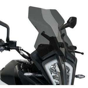 プーチ(Puig) ツーリングスクリーン KTM 390ADVENTURE/390アドベンチャー 2020- ダークスモーク motoparts
