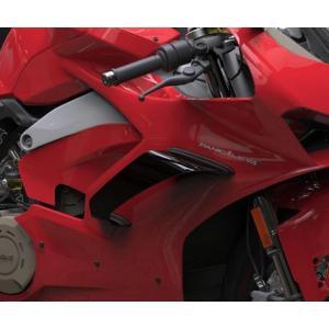 Puig(プーチ) ウイングレット・ダウンフォース・スポイラー・Ducati・パニガーレV2/V4・ブラック|motoparts