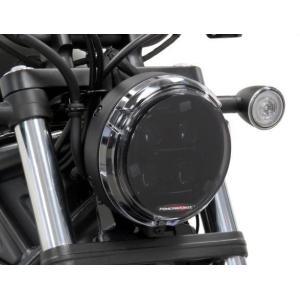 POWERBRONZE ヘッドライトプロテクター レブル250/500 17- ダークスモーク|motoparts
