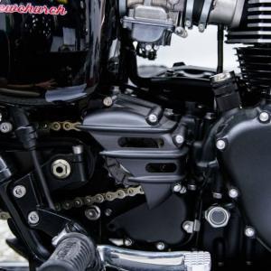 Motone スピードスター・スプロケットカバー リブデザイン ブラック トライアンフ