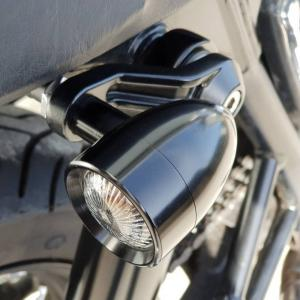 Motone(モートーン) トライライン アッパーショックマウント ターンシグナルブラケット ブラック|motoparts