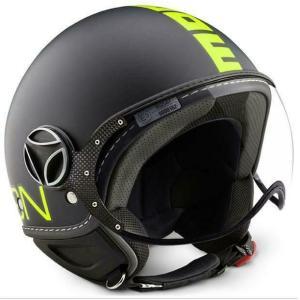 モモ デザイン(MOMO) ジェットヘルメット FGTR FLUO マットブラック/イエロー(MD1001004023)|motoparts