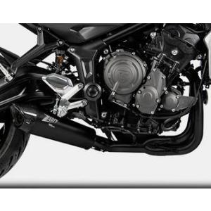 ZARD・フルエキゾーストマフラー・ トライデント660(TRIDENT660) 21-・ブラックコーティング・チタンスリーブ motoparts