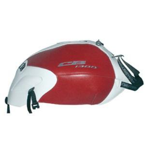 BAGSTER タンクカバー ホワイト/レッド CB1300SF/SB 03-11 1467A WHITE/RED|motor-addiction