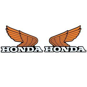 [代引き・日時指定不可] HONDA オールドウイングステッカー14 / 0SYWG-C9L motorabit