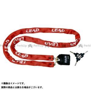 【無料雑誌付き】リード工業 GD-2506/2507 チェーンロック南京錠付 カラー:レッド LEAD|motoride