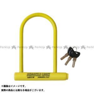 【無料雑誌付き】リード工業 U-108 シャックルロック カラー:イエロー LEAD|motoride