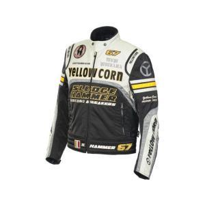 YeLLOW CORN BB-6307 ウインタージャケット カラー:ブラック/アイボリー サイズ:3L|motoride