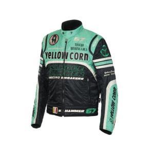 YeLLOW CORN BB-6307 ウインタージャケット カラー:ブラック/グリーン サイズ:3L|motoride