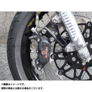 【無料雑誌付き】ボアエース SR400 SR500 キャリパーサポート ブレンボ40mm アクセル側 カラー:ブラックアルマイト BORE-ACE|motoride