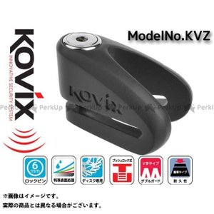 ライズコーポレーション KOVIX V字型ディスクロック KVZ ブラック  RISE CORPORATION|motoride