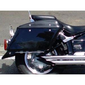 アメリカンドリームス ドラッグスタークラシック400(DSC4) ツーリングBOX 黒ゲルコート 片側|motoride