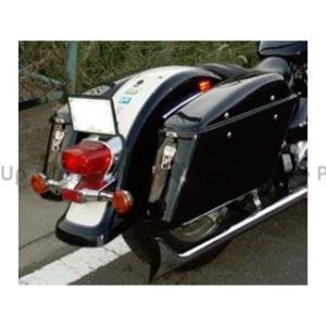 アメリカンドリームス イントルーダークラシック400 ツーリングBOX 黒ゲルコート 片側|motoride
