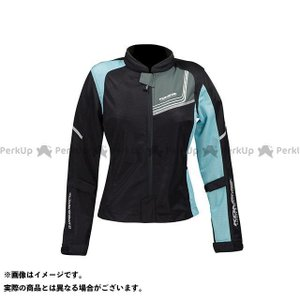 コミネ KOMINE JK-117 プロテクトフルメッシュジャケット-ジモン ブラック/ライトブルー WM|motoride