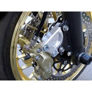 オーバーレーシング ZRX1200ダエグ フロントキャリパーサポート ブレンボ4P/40mm用   OVER RACING motoride