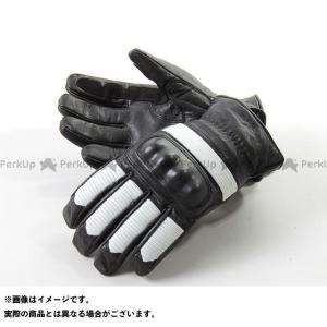 DEGNER 【特価品】 WG-20 レザーグローブ ブラック/ホワイト L メーカー在庫あり デグナー motoride