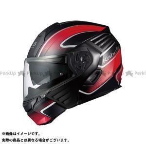 KAZAMI(カザミ) フラットブラック/レッド SG(自動二輪車用) 標準シールド(カラー):CM...