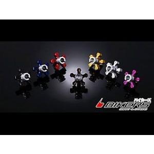 BIKERS Ninja250(EX250L) クラッチケーブル アジャスター c22 カラー:レッド Ninja250