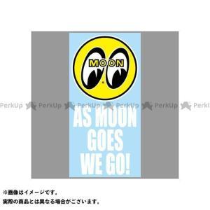 【無料雑誌付き】ムーンアイズ DM-204 As MOON Goes We Go Sticker(イエロー/ホワイト) MOONEYES|motoride